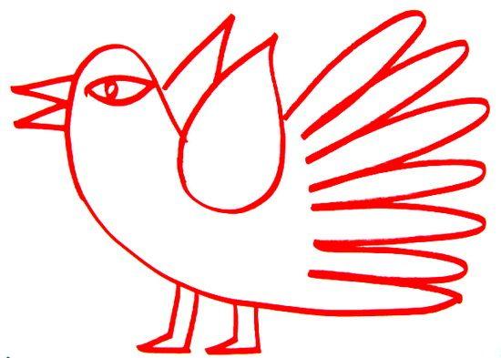 Раскраска Сказочная птица